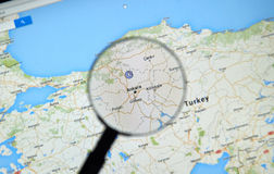 Ankara sur Google Maps Photo libre de droits
