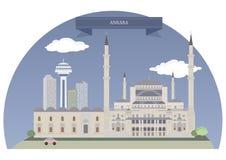 Ankara, Turcja ilustracja wektor
