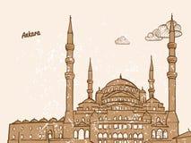 Ankara, Turcja, kartka z pozdrowieniami ilustracji
