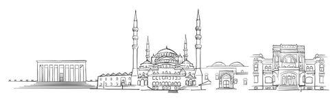 Ankara, Turcja, panoramy nakreślenie Zdjęcia Stock