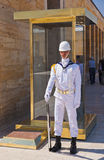 ANKARA, TURKEY - AVGUST 30: Guard in Ataturk mausoleum at Avgust Stock Image
