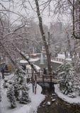 Ankara/Turkey-December 06 2019: Kugulu Park is a popular place to enjoy the day. Kugulu park under snow in winter stock image