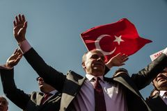 ANKARA, TURKEY - MAR 15, 2014 : President of Retired Turkish NCO royalty free stock images