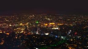 Ankara Turkiet på natten fotografering för bildbyråer