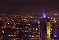 Ankara Turkije bij nacht Stock Foto's