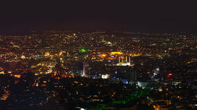 Ankara Turkije bij nacht Stock Afbeelding
