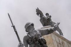 Ankara/Turkije-December 06 2019: Close-upmening van Ataturk-Standbeeld in Ulus-buurt in de winter royalty-vrije stock afbeelding