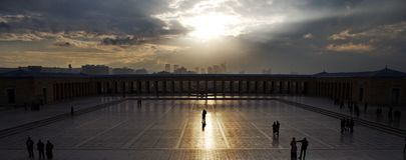 Ankara view from Ataturk mausoleum Anitkabir. Ankara, Turkey royalty free stock photography