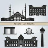 Ankara zabytki i punkty zwrotni royalty ilustracja