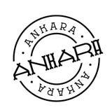 Ankara znaczek na bielu royalty ilustracja