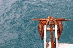 Ankare med havsbakgrund Fotografering för Bildbyråer