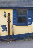 Ankare och blå slutare Fotografering för Bildbyråer
