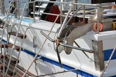 Ankare på en segelbåt Arkivfoton