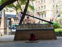Ankaret och kanonen i Sydney parkerar arkivfoton