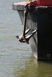 Anker 1 van de boot stock foto