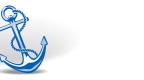 Anker. Aufbau für Visitenkarte Lizenzfreies Stockfoto