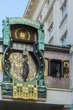 Anker Clock, Βιέννη Στοκ Φωτογραφίες