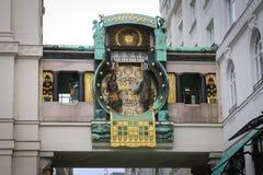 Anker Clock, Βιέννη Στοκ Φωτογραφία