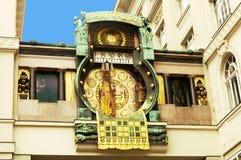 Anker clock in Vienna (Austria) Stock Photo