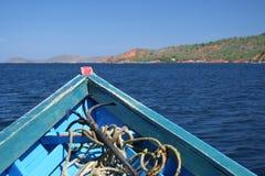 Anker in een boot Royalty-vrije Stock Foto