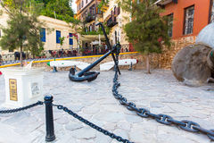 Anker en anker Griekenland, Chania, Kreta Royalty-vrije Stock Foto's