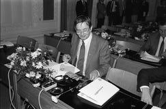 ANKER JORGENSEN ΚΑΙ ΔΗΜΟΚΡΆΤΕΣ OLUF PALME _SOCIAL Στοκ φωτογραφία με δικαίωμα ελεύθερης χρήσης