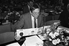 ANKER JORGENSEN EN DE DEMOCRATEN VAN OLUF PALME _SOCIAL Stock Foto's