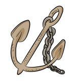 Anker-Karikatur - Vektor-Illustration Lizenzfreie Stockbilder