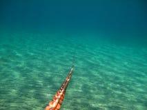 Anker-Kette Unterwasser-v2 Lizenzfreie Stockfotos