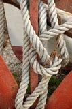 Anker mit Seil Stockbild