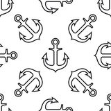Anker naadloos patroon Stock Foto's
