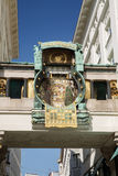 Anker-Uhr Ankeruhr, 1911 in Hoher Markt - berühmtes astronomica Lizenzfreies Stockfoto