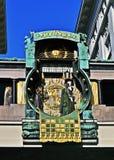 Anker Uhr in Wien Stock Foto's