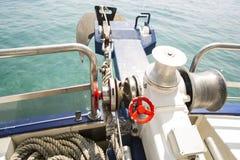 Anker van de overzeese boot Stock Foto's