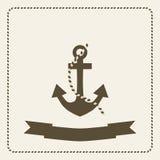 Anker zeevaartthema Royalty-vrije Stock Foto's