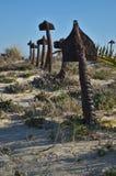 Ankerbegraafplaats in Praia do Barril Stock Afbeelding