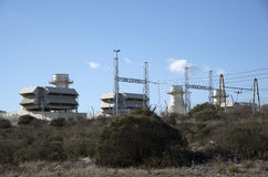 Ankerlig在亚特兰提斯南非的发电站 免版税库存照片