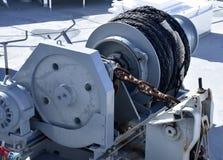 Ankermaschinerie in einem Schiff Lizenzfreie Stockfotos