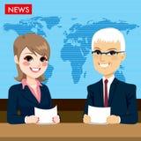 Ankers die Nieuws melden stock illustratie