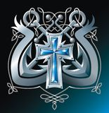 Ankers, kruis en lint Royalty-vrije Stock Fotografie