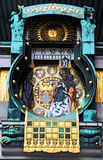 Ankeruhr. Famous clock in Vienna built by Franz Matsch in 1912-1914 at Hoher Markt. Every hour   appears a famous person Royalty Free Stock Photo