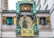 Ankeruhr watch in Vienna Stock Photo