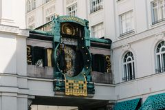 Ankeruhr zegar w Wiedeń Obraz Stock