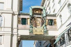 Ankeruhr zegar w Wiedeń Obrazy Stock