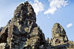 Ankgor wat famous landmark temple detail near siem reap cambodia Stock Photo
