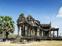 Ankgor wat famous landmark temple detail near siem reap cambodia Stock Photography
