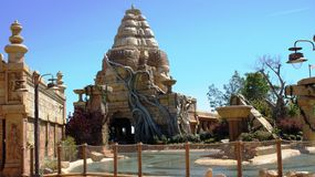 Ankgor Wat in Port Aventura Royalty Free Stock Photos