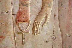 Ankh, αρχαίο σύμβολο γνωστό επίσης όπως βασικό της ζωής, Αίγυπτος Στοκ Εικόνα
