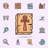 ankh, alivio, cruz, icono egipcio Sistema universal de historia para el dise?o y el desarrollo, desarrollo de la p?gina web del a stock de ilustración
