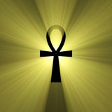 Ankh Egyptian symbol of life light flare Stock Photography
